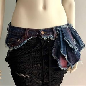 Pink Wash Denim Hip Belt